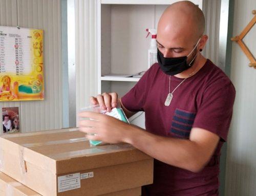 Le mascherine donate per il Benin