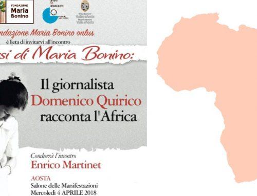 Domenico Quirico ospite della Fondazione Maria Bonino il 4 aprile ad Aosta